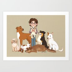 Must Love Dogs Art Print
