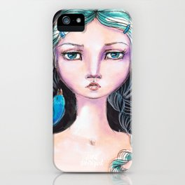 Blue Bird by Jane Davenport iPhone Case