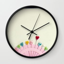 For the love of pins Wall Clock