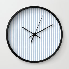 FADED DENIM CHAMBRAY STRIPES Wall Clock