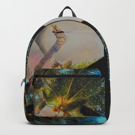 Overlapping Palms Backpack