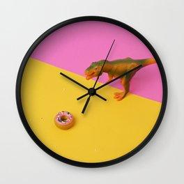 Dinos Like Donuts Wall Clock