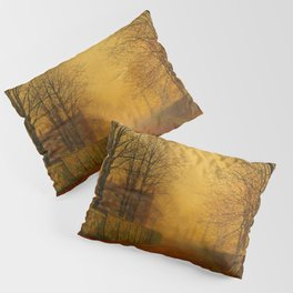 John Atkinson Grimshaw - Evening Glow - Victorian Retro Vintage Painting Pillow Sham