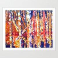 Autumn Birches Art Print