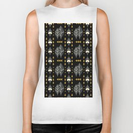 SCANDINAVIAN LEAVES PATTERN Biker Tank