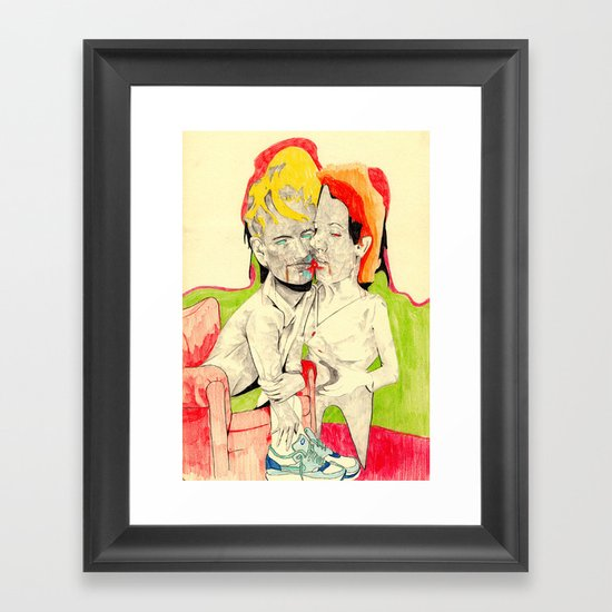 Kissin' with my Nike's on Framed Art Print
