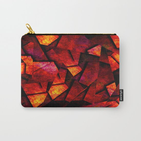 Fragments Of Fire - Abstract, geometric, fragmented pattern Carry-All Pouch