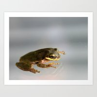kermit Art Prints featuring Kermit by Organic Photography