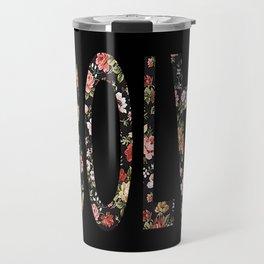 Floral Ebola Travel Mug