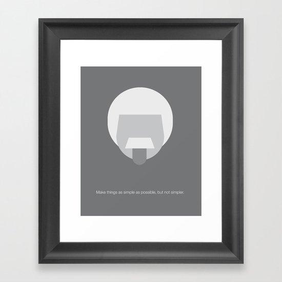 FC- Einstein Framed Art Print