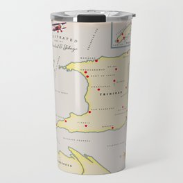 Trinidad & Tobago vintage map Travel Mug
