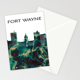 Fort Wayne Skyline Stationery Cards