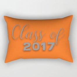 Class of 2017 - Orange and Grey Rectangular Pillow