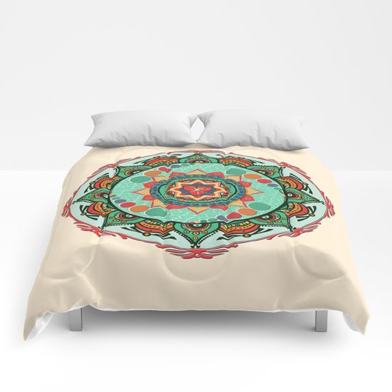 Heart Light Multicolor Mandala Comforters