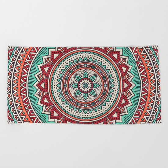 Hippie mandala 1 Beach Towel