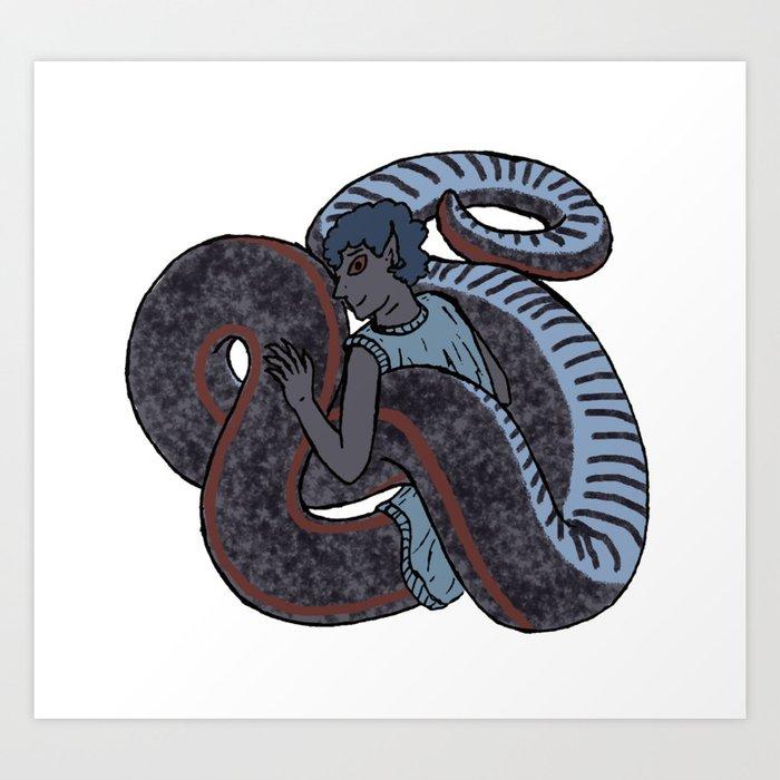 Sharp-tailed Snake-Boy Art Print