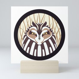 Short-eared Owl Mini Art Print