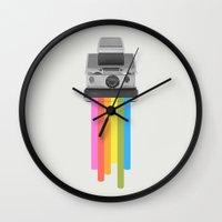 rainbow Wall Clocks featuring Taste the Rainbow by Zeke Tucker