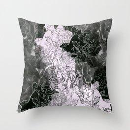 Floral Smoke Throw Pillow