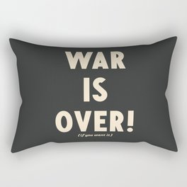 War is over!, if you want it, vintage art, peace, Yoko Ono, Vietnam War, civil rights Rectangular Pillow