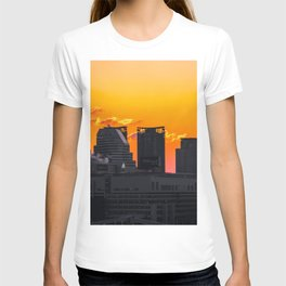 Sunset over Cityscape (Color) T-shirt