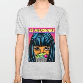Mia's 5 Dollar Milkshake Unisex V-Neck