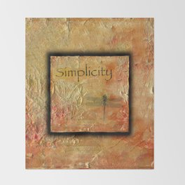 Simplicity by Kathy Morton Stanion Throw Blanket