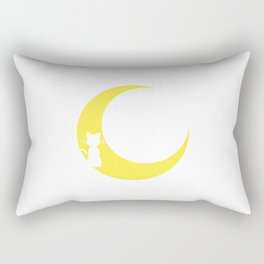 Cat and the Moon Rectangular Pillow