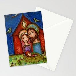 Nativity with Birds Stationery Cards