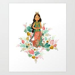 The Sundanese Goddess of Rice and Prosperity Art Print