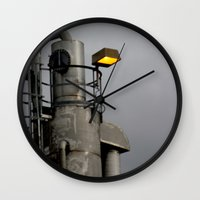fallout Wall Clocks featuring After the Fallout by Jeffrey J. Irwin