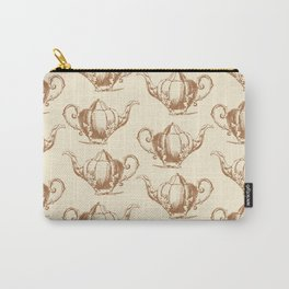 Vintage Teapot Pattern I Carry-All Pouch
