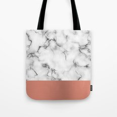 Marble & copper Tote Bag