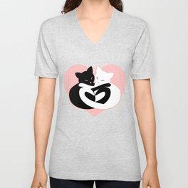 Balanced Feline Love Unisex V-Neck