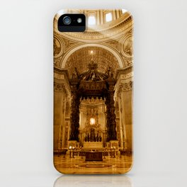 St. Peter's Basilica in Rome iPhone Case