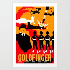James Bond Golden Era Series :: Goldfinger Art Print