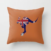 australia Throw Pillows featuring Australia by Caio Trindade