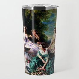 """Franz Xaver Winterhalter's masterpiece """"The Empress Eugenie surrounded by her Ladies in waiting"""" Travel Mug"""