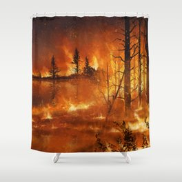 Lighting the Night Shower Curtain