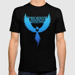 PHOENIX RISING - blue T-shirt