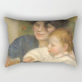 Gabrielle et Jean by Pierre-Auguste Renoir Rectangular Pillow