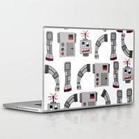 robots Laptop & iPad Skins featuring Robots  by Emma Joy Designs