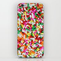 sprinkles iPhone & iPod Skins featuring Sprinkles by Beastie Toyz