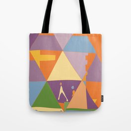abstract autumn mountain landscape Tote Bag