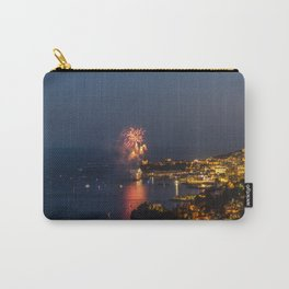Panoramic lovely view of fireworks on the Principality of Monaco shortly after sunset Carry-All Pouch