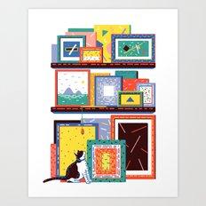 Shelving Units 05 Art Print
