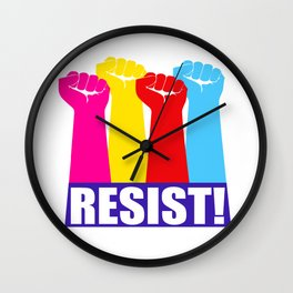 Resist! Trump Wall Clock