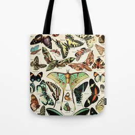 Papillon I Vintage French Butterfly Charts by Adolphe Millot Tote Bag