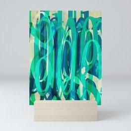 Pattern Type Color Sapphire Meadow Mini Art Print