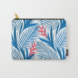 Tropical Flowers Blue&White Carry-All Pouch